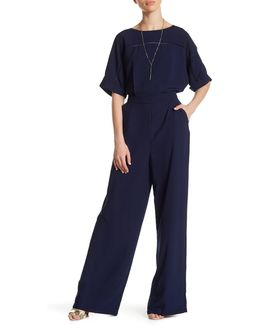 Short Sleeve Solid Jumpsuit