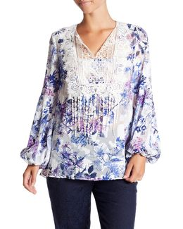 Dayna Sheer Embellished Blouse