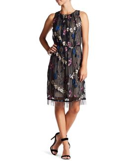 Talia Embroidered Fringe Dress