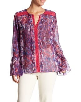 Norma Sheer Bell Sleeve Blouse