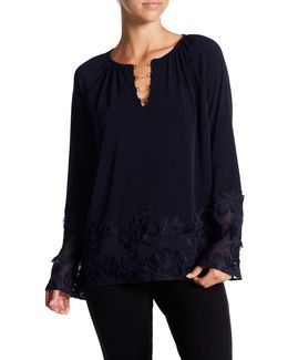 Laurie Embroidered Chain Blouse
