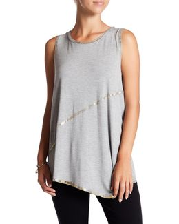 Angelica Metallic Raw-edge Tank