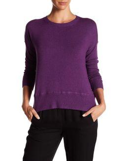 Crew Neck Drop Shoulder Pullover Sweater