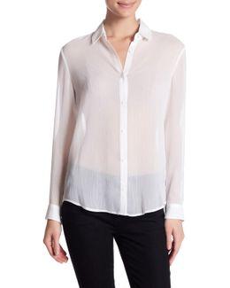 Metallic Button Up Shirt