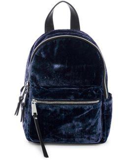 Perry Small Velvet Backpack