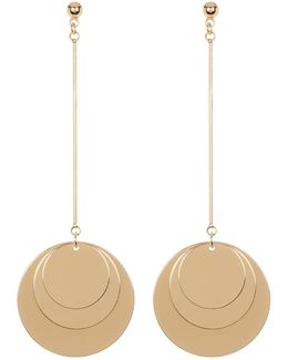 Multi Disc Drop Earrings