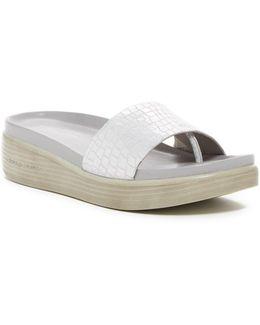 Fiji Croc Embossed Sandal
