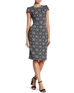 Patterned Knit Midi Dress