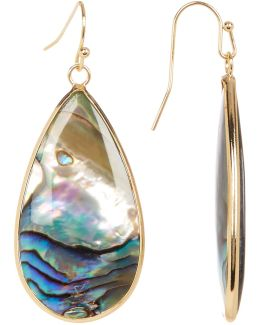 Large Abalone Teardrop Dangle Earrings
