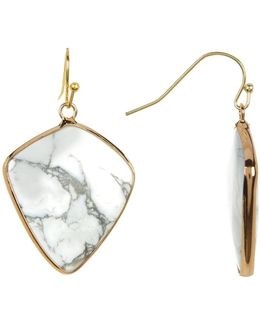 Swirl Stone Triangular Earrings