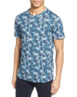 Retro Leaf Print T-shirt