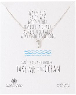 Sterling Silver Take Me To The Ocean Seahorse Necklace