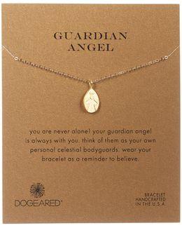 14k Gold Plated Sterling Silver My Guardian Angel Bracelet