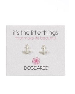 Sterling Silver It's The Little Thing's Anchor Stud Earrings