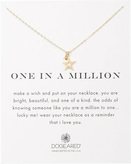 14k Gold Plated Sterling Silver One In A Million Star Pendant Necklace