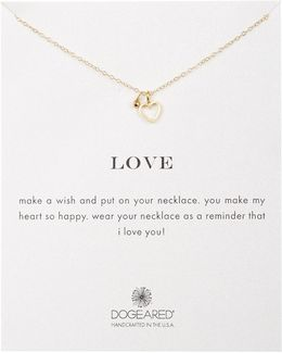14k Gold Plated Sterling Silver Love Heart Pendant Necklace