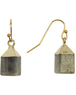 Labradorite Square Drop Earrings