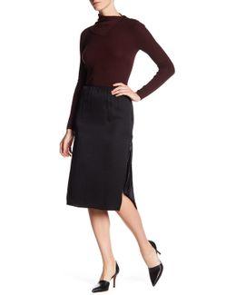 Livny Ea Drapey Satin Skirt