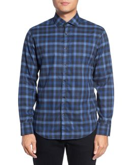 Bond Trim Fit Plaid Sport Shirt