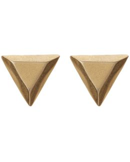 Gem Geometric Stud Earrings