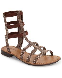 Gemma Reptile Embossed Gladiator Sandal