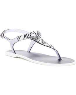 Geometric Ankle Strap Sandal