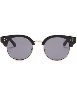 Women's Injected Round Sunglasses