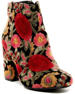 Vail Embroidered Ankle Boot
