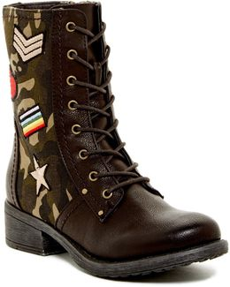 Nate Patched Combat Boot