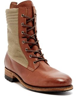 Contrast Paneled Boot