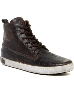 Croc Embossed High Top Sneaker