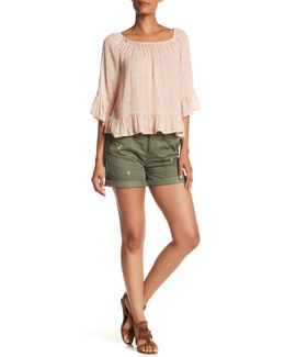 Embroidery Army Short