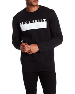 Oversized Logo Scuba Sweatshirt