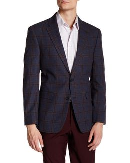 Ethan Blue Windowpane Two Button Notch Lapel Suit Separates Jacket