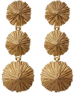 Hana Tiered Starburst Drop Earrings