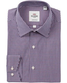 Slim Fit Dobby Check Dress Shirt