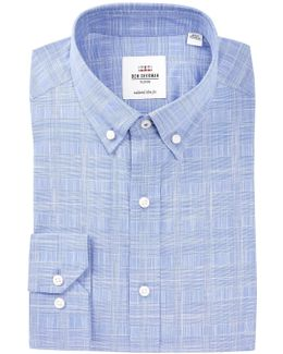 Woven Plaid Slim Fit Dress Shirt
