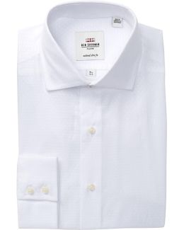 Dobby Royal Tailored Slim Fit Dress Shirt
