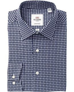 Dobby Gingham Florentine Tailored Slim Fit Dress Shirt
