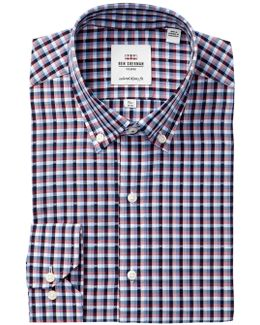 Floral Check Camden Tailored Skinny Fit Dress Shirt