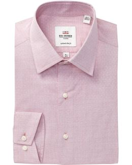 Dobby Florentine Tailored Slim Fit Dress Shirt