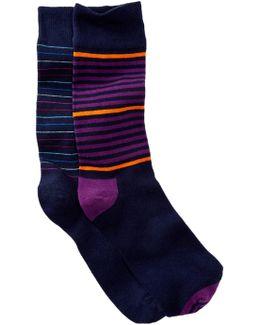 Stripes Crew Socks - Pack Of 2