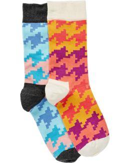Fashion Crew Length Socks - Pack Of 2