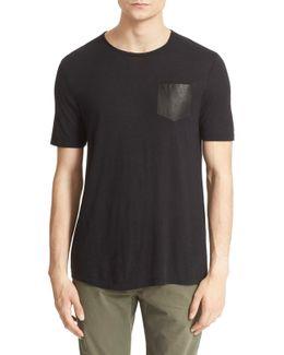 Leather Pocket T-shirt