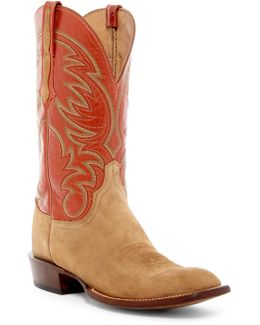 Genuine Leather & Suede Cowboy Boot