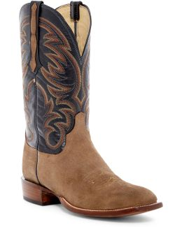 Genuine Leather & Suede Cowboy Boots