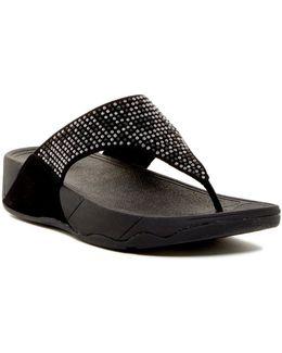 Studded Aztec Toe Post Sandal