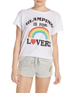 Glamping Is For Lovers Front Graphic Tee