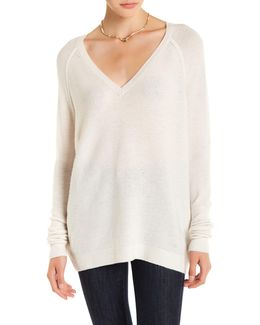 Bache V-neck Wool & Cashmere Sweater