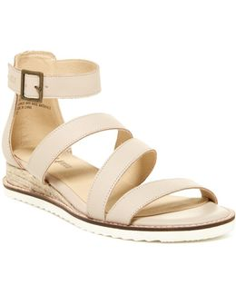 Riviera Leather Wedge Sandal